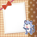 Cat baby card vector illustration Stock Photography