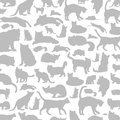 Cat a background made of cats vector illustration Stock Image
