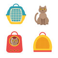 Cat carrier. Vector isolated