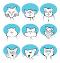 Cat cartoon faces Image stock