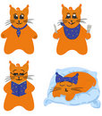 Cat character, comics series Royalty Free Stock Images