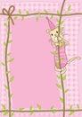 Cat Climb Rope_eps Stock Image