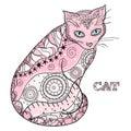 Cat. Design Zentangle.