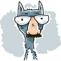 Cat disguise a cartoon wearing glasses with a fake nose and moustache Stock Image