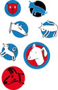 Cat dog logos several simple of cats and dogs Stock Images