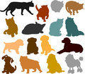 Cat And Dog Silhouettes 01