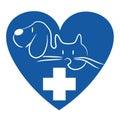 Cat and dog - veterinary logo