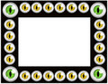 Cat eyes frame - black Royalty Free Stock Photos