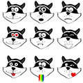 Cat face emoticon isolated background