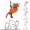 Cat Flea Attack Royalty Free Stock Photo