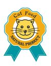 Cat Food emblem or badge Stock Images