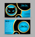 Cat head theme business card Stock Images