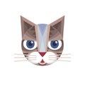 Cat head - vector sign illustration. Cat logo. Cat animal symbol. Cat head vector concept illustration. Feline illustration.