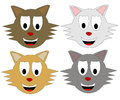 Cat heads Royalty Free Stock Image