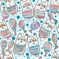 Cat lay cat seamless pattern Royalty Free Stock Photo