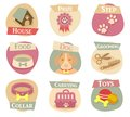 Cat life flat icons Royalty Free Stock Photo