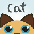 Cat looking up vector illustration Stockfotografie