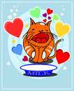 Cat in love Royalty Free Stock Images