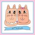 Cat lover cute frame