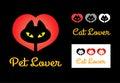 Cat lover symbol