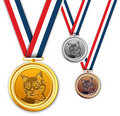 Cat medals, award, medallion. Stock Image