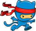 Cat Ninja Vector Illustration Royalty Free Stock Images