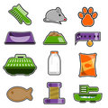 Cat object icon set Stock Image