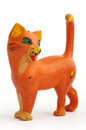 Cat orange old toy objects isolated Stock Image