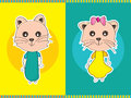 Cat pair boy girl Fotografia Stock