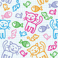 Cat pattern Stock Photography