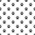 Cat paw pattern vector