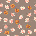Cat paw print with claws Royalty Free Stock Photo
