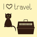 Cat and pet carrier Royalty Free Stock Photo