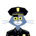 Cat policeman Royalty Free Stock Photo