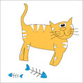 Cat red on a white background vector Stock Photo