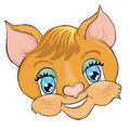 Cat`s head. Cartoon style. Clip art for children.