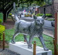 Cat sculpture at Cats Park - Cali, Colombia Royalty Free Stock Photo
