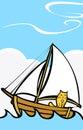 Cat at Sea Stock Photo