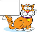 Cat with a Sign Stock Photography