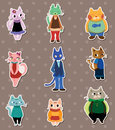 Cat stickers Royalty Free Stock Photos