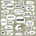 Gato hablar