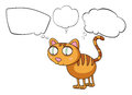 The cat thinking illustration of on a white background Royalty Free Stock Image