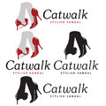 Cat walk catwalk stylish sandals and ladies shoes Stock Images