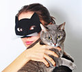 Cat woman Stock Photo