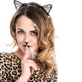Cat-woman Royalty Free Stock Photo