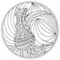 Cat. Zendala. Design Zentangle.