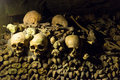 The catacombs of paris france Royalty Free Stock Photos