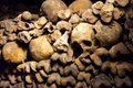 The catacombs of paris france Stock Image