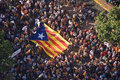 Catalan independence rally Royalty Free Stock Photography