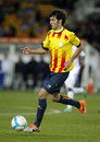 Catalan player marc valiente of fc barcelona in action during the friendly match between catalonia and cape verde at olympic Stock Images